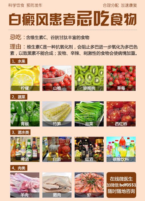 蚌埠白癜风医院:白癜风的食疗要注意什么?